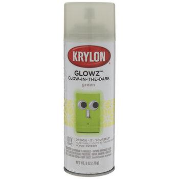 Green Krylon Glowz Glow-In-The-Dark Spray Paint