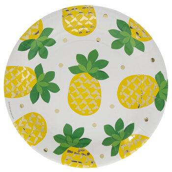 Pineapple & Polka Dot Paper Plates