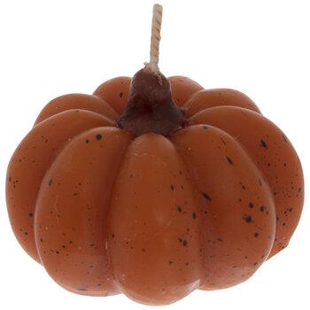 Speckled Orange Pumpkin Candles