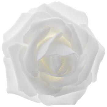"""White Rose Blooms - 2 3/4"""""""