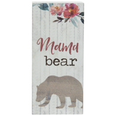 Mama Bear Wood Decor
