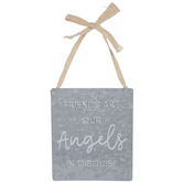 Friends Are Angels Galvanized Metal Wall Decor