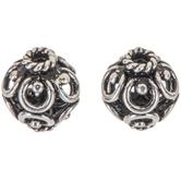 Sterling Silver Flourish Beads - 10mm