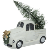 White Truck With Light Up Tree