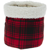 Red & Black Plaid Gift Sack
