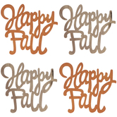 Happy Fall Wood Cut-Outs