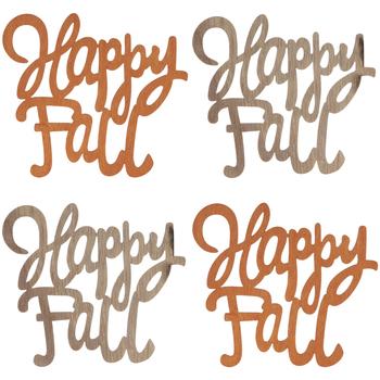 Happy Fall Wood Cutouts