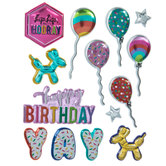 Happy Birthday Puffy Stickers