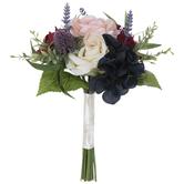Burgundy, White & Navy Bouquet