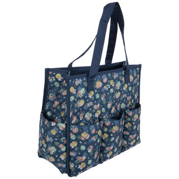Blue Floral Tote Bag Organizer