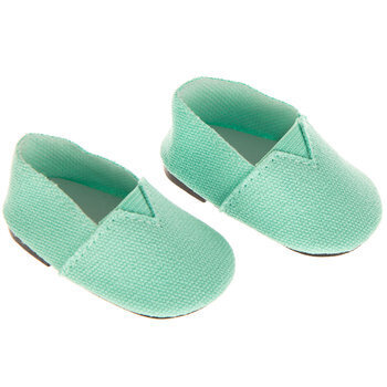 Turquoise Canvas Doll Shoes