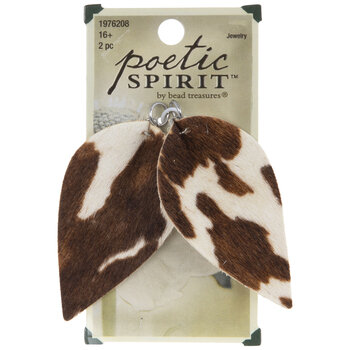 Calf Hair Cow Print Leather Pendants