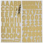 Gold Foil Block Alphabet Stickers