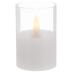 White Pillar Glass LED Candle - 2