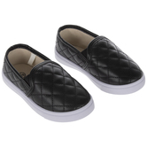 Black Quilted Toddler Sneakers