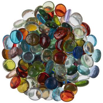 Round Transparent Glass Mosaic Gems