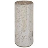 Silver Round Mercury Glass Vase