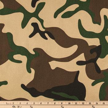 Green Camouflage Twill Fabric