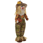 Self-Standing Scarecrow With Pumpkin