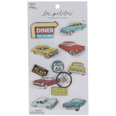 Classic Cars 3D Stickers