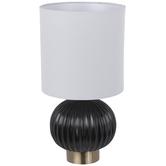 Black & Gold Round Lamp
