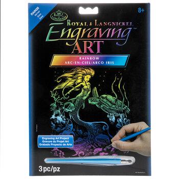 Rainbow Foil Mermaid Engraving Art Kit