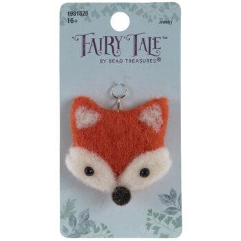 Orange Fox Wool Felt Pendant
