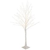 White Birch Pre-Lit Christmas Tree – 4'