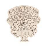 Happy Thanksgiving Wood Shapes