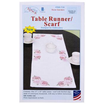Rose Garden Embroidery Table Runner Kit