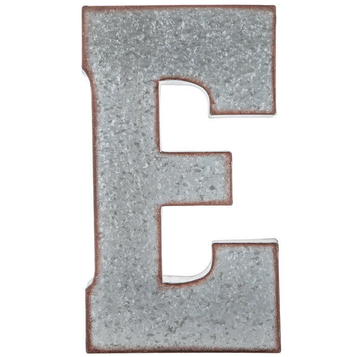 Small metal letter E