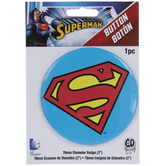 Superman Logo Button