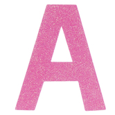 "Glitter Wood Letter A - 4"""