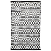 "Black & White Diamond Chindi Rug - 27"" x 45"""