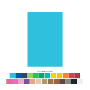 "Rainbow Foam Sheets - 8 1/2"" x 5 1/2"""
