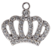 Crown Charm With Crystals