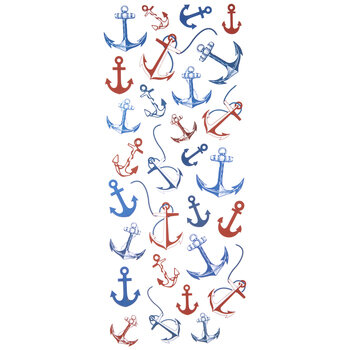 Red & Blue Anchor Foil Stickers