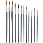 Round All Purpose Paint Brushes Value Pack - 12 Piece Set