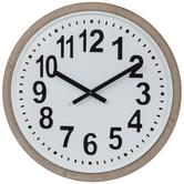 White & Black Metal Wall Clock