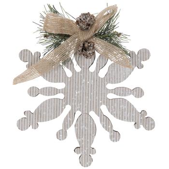 Corrugated Snowflake & Pine Ornament