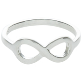 Sterling Silver Infinity Ring - Size 8