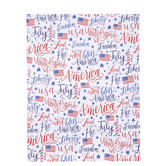 "July 4th American Flag Scrapbook Paper - 8 1/2"" x 11"""