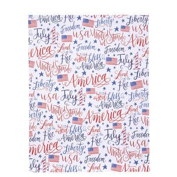 "July 4th American Flag Scrapbook Paper - 8 1/2"" x 11"""