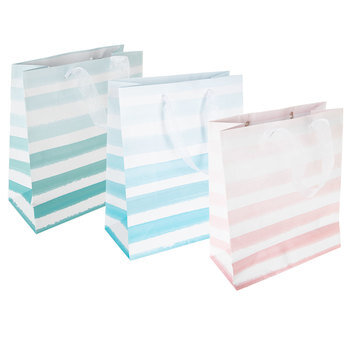 Watercolor Striped Gift Bags