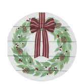 Christmas Wreath Round Napkins - Large