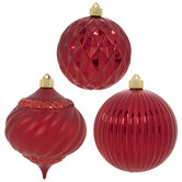 Red Shiny & Matte Ornaments