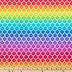 Rainbow Mermaid Scale Cotton Fabric