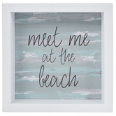 Meet Me At The Beach Wood Wall Decor