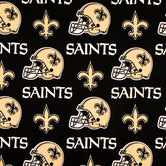 NFL New Orleans Saints Cotton Fabric