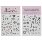 Icons & Shapes Temporary Tattoos
